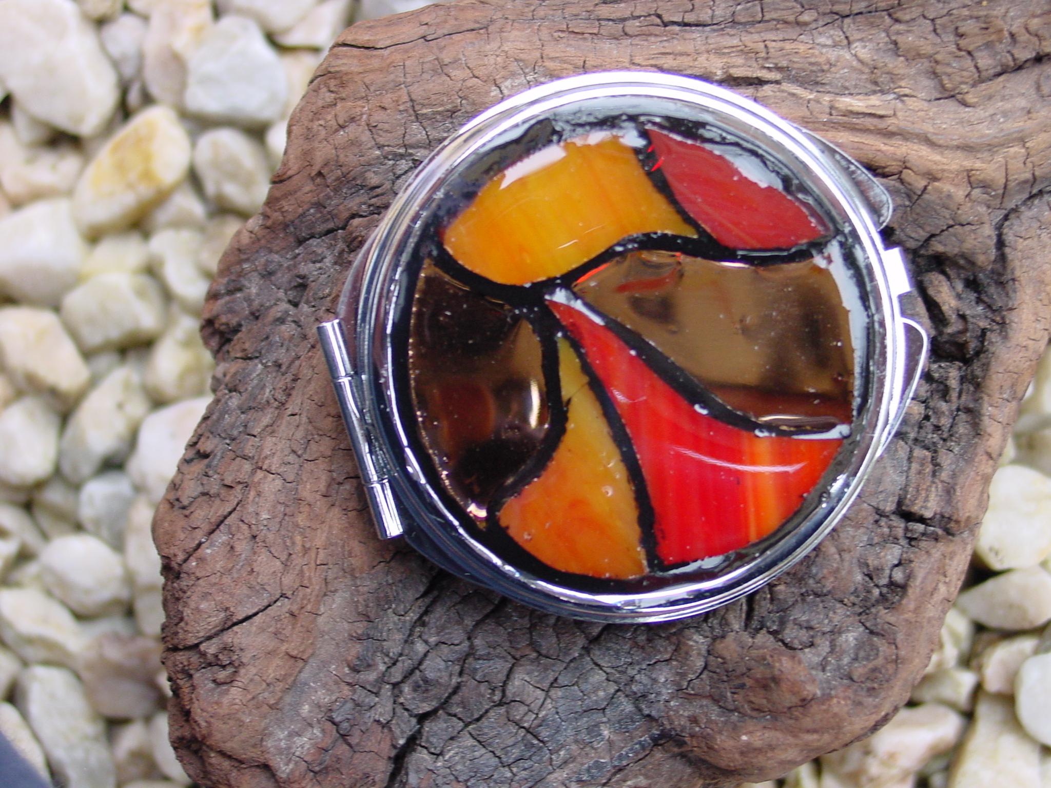 Miroir de sac couleurs d automne le petit atelier d 39 isa for Le petit atelier