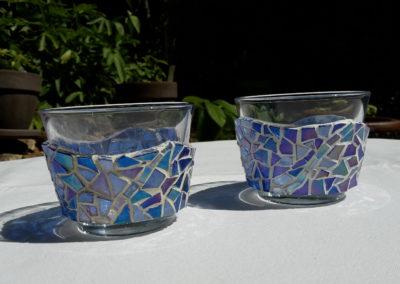 2 Photophores bleu foncé, ligne bleu clair