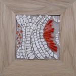 Tableau en mosaique de marbre et albertini