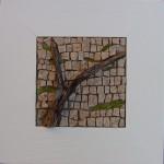 Mosaique bois flotté et marbre